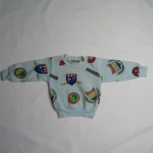 Vintage Tootsie Roll 18mo Sweater Football Theme